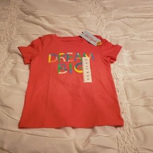 Cat and Jack Toddler Girl's 3t Dream Big Shirt.